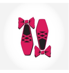 Pink ballet pointes shoes vector