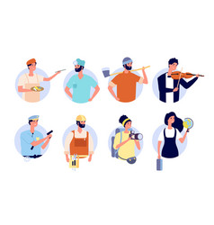 Professional avatars different profession people vector