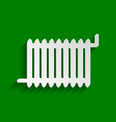 radiator sign paper whitish icon with vector image