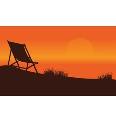 Relax at summer silhouette backgrounds vector