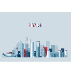 Riyadh skyline flat design vector