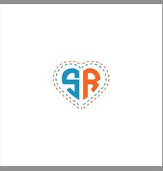 S r letter logo design on black color background vector