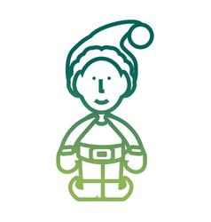 santa helper icon vector image