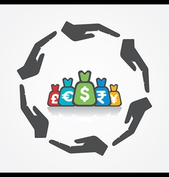 secure or save money concept vector image