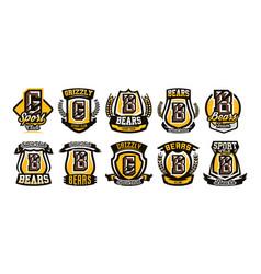 Set collection colorful logos emblems letter vector