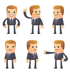 Set of advisor character in different poses vector