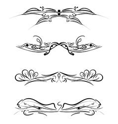 set of patterns vector image