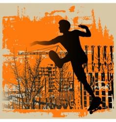 skate boy grunge vector image