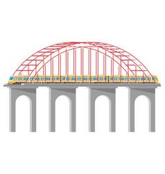 Skytrain on bridge isolated on white vector