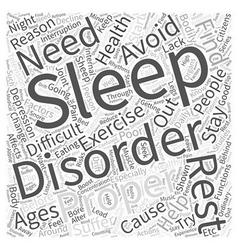Sleep Disorders and Healthy Aging Word Cloud vector
