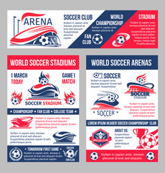 Soccer game championship posters template vector