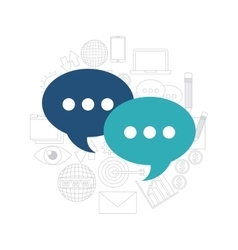Speech bubble communication social media vector