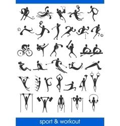sports man symbols vector image