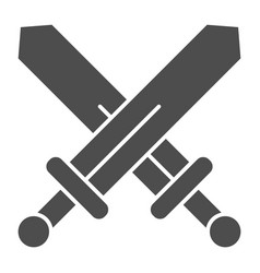 swords solid icon blades crossed vector image
