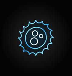 Virus outline concept blue icon on dark vector