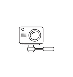 Webcam line icon outline logo vector