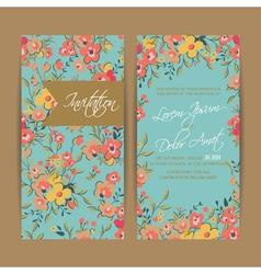Wedding invitation card or announcement vector