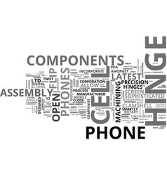 What enables you to flip your cell phone open vector