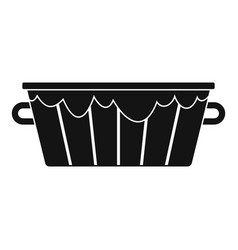 Wooden tub icon simple style vector