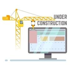 Building under construction web site vector image vector image