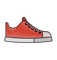 cute scribble shoe cartoon vector image vector image