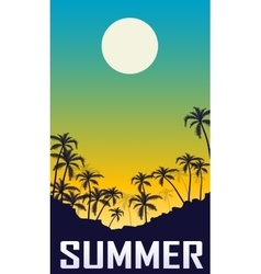 Summer night landscape vector image vector image