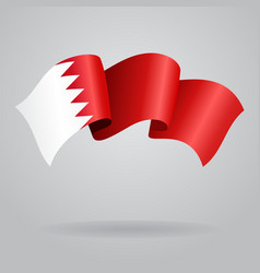 Bahrain waving Flag vector image vector image