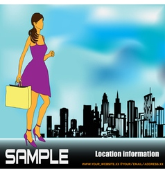 big city shopping vector image vector image