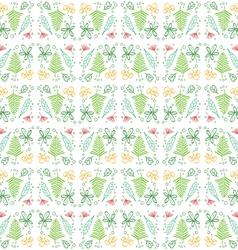 Doodle Leaf Seamless Pattern Background vector image vector image