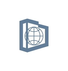 Globe Real Estate sign vector image