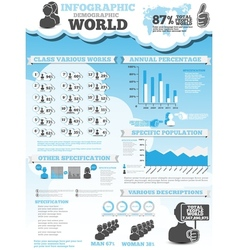 Infographic demographic modern style 4 vector