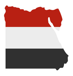 map of egypt in egyptian flag colors icon isolated vector image vector image