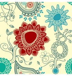 paisley background vector image vector image