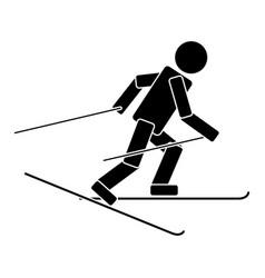 ski race flat icon vector image