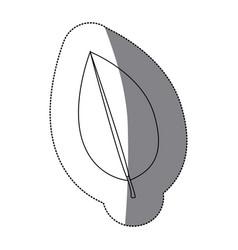 contour leaf contrast icon vector image