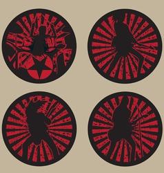 rock star band vector image
