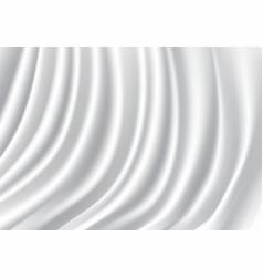 white satin fabric wave luxury vector image