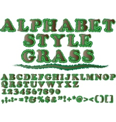 ALPHABET STYLE GRASS 2 vector image