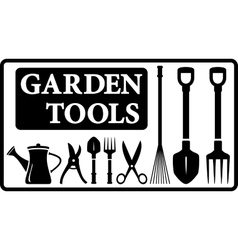 garden tools collection vector image