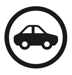 no motor and car sign line icon vector image vector image