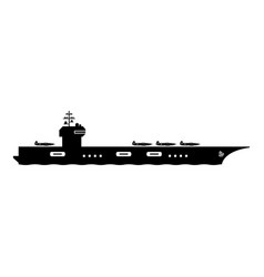 1345 aircraft carrier icon vector image