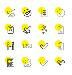 16 agreement icons vector