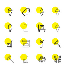 16 product icons vector image