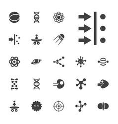 22 molecule icons vector