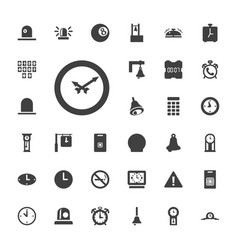 33 alarm icons vector