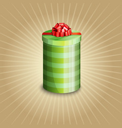 a gift box with red ribbon vector image