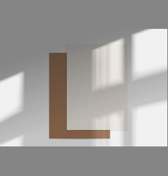 A4 paper mockups overlay shadow from window vector
