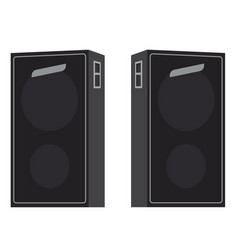 acoustic loudspeakers isolated vector image