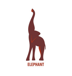 african elephant logo vector image