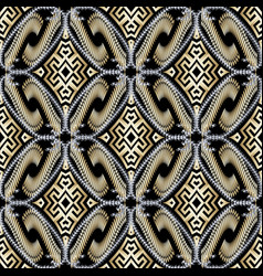 Arabian style ornamental gold silver 3d greek vector